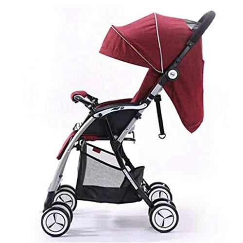 Zhige passeggino leggero alta vista baby passeggino in alluminio leggero quattro ruote passeggino pieghevole tre zaino bambino passeggino