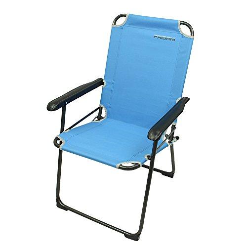Fridani Campingstuhl GCB 920 Blau Klappstuhl mit Armlehnen max 110 kg bequem stabil klappbar (Hocker Fußball-sessel Und)