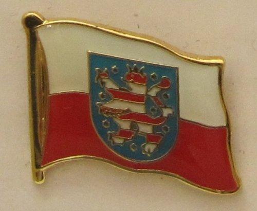 Pin Anstecker Flagge Fahne Thüringen Landesflagge Flaggenpin Badge Button Flaggen Clip Anstecknadel