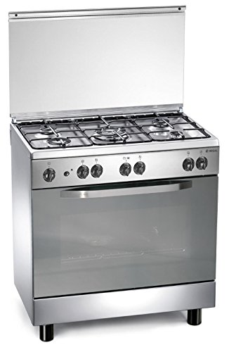 Cucina a gas 80x50x85 cm inox 5 fuochi con forno a gas - regal rc855gx