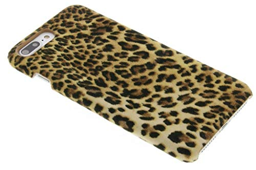 hCase kompatibel mit iPhone 7 Plus,iPhone 8 Plus Hülle - Leopard, Wildkatze, Tiermuster - Hard Case Handyhülle