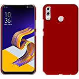 """Case Creation TM New Premium Quality Imported Exclusive Matte Rubberised Finish Frosted Hard Back Shell Case Cover Guard Protection For Asus Zenfone 5z ZS620KL / ZenFone 5 (ZE620KL) / Asus Zenfone 5Z 6.2""""inch 2018- MAROON WINE RED"""