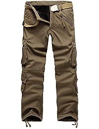 e44e71b03588 Rera Herren Vintage Cargohose Lang Arbeitshose Ihnen gefüttert Outdoor  Freizeithose Sweatpants Chino Stoff Hose Jogging Pants