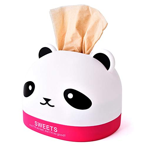 Dosige Kosmetikbox aus Kunststoff Cartoon Panda Stil Taschentuchbox Kosmetik Tücherbox Tissue Spender für Restaurant und Hotel 13 * 16.7cm