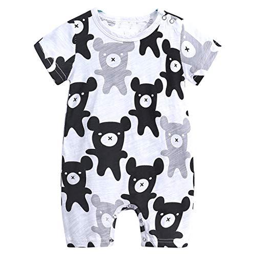 Knowin-baby body Cartoon Giraffe Verschiedene Muster Kinder Baby Jungen Cartoon Print Strampler Outfit Kleidung Sommer Bodysuit Lässig Kleidung Süß Overall Kurzarm T-Shirt Weste Ärmellos Tops(0M-2T)