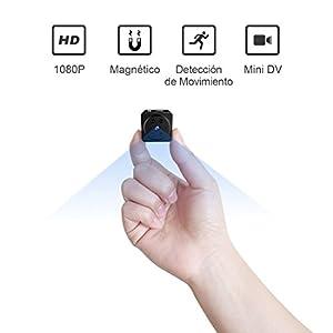 camaras de seguridad inalambricas para casa: Mini Espía Cámara AOBO Oculta HD 1080P Cámara Inalámbrica Portátil Interior con ...