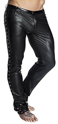 Noir Handmade Clubwear erotische Herren-Hose aus Wetlook Reizwäsche Größen 38 - (Olaf Kostüm Männer)