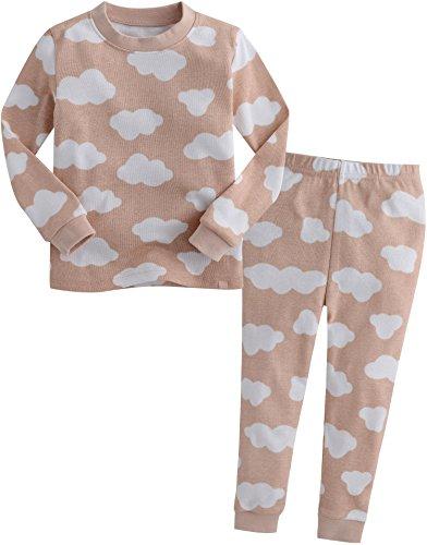 Vaenait Baby Säugling Kinder Langarm zweiteilige Schlafanzüge Set Long Cloud Pink S