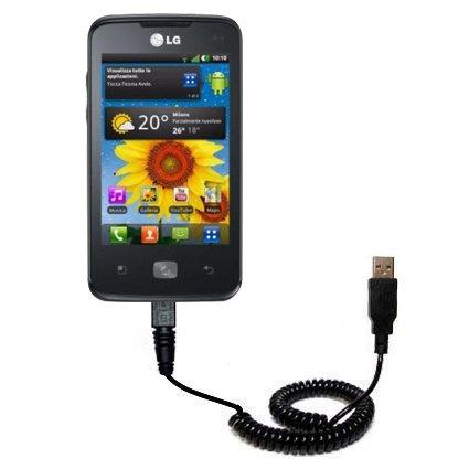 Cavo USB a Spirale Dati e Caricamento compatibile con LG Univa con la Speciale TipExchange