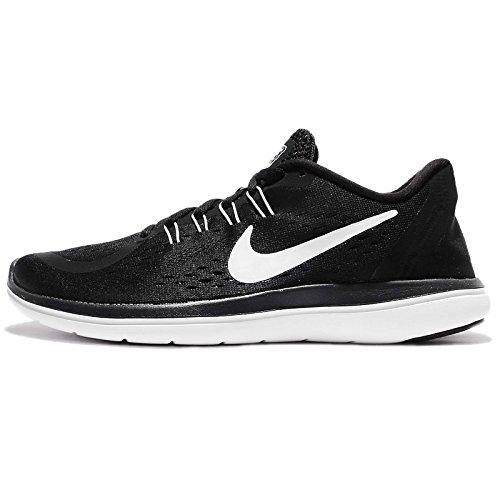 Womens Nike Sb (Nike Damen WMNS Flex 2017 Rn Traillaufschuhe, Schwarz (Black/White/Anthracite/Wolf Grey 001), 35.5 EU)