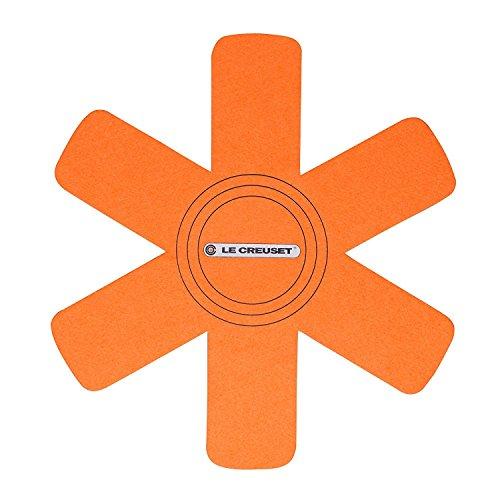 Le Creuset Set de 3 protectores de utensilios, Apto para todo tipo de ollas y sartenes, Naranja Volcánico...