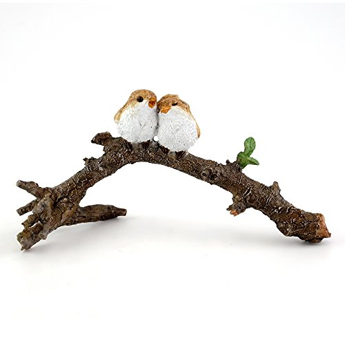 Top Collection 4404Miniatur-Figur, verliebte Vögel auf dem AST, klein, für Märchengarten und Terrarium -