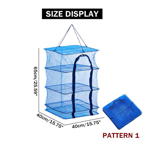 TuToy 3/5 Layers Hanging Drying Net Beef Vegetable Food Mesh Dryer Shelf Storage Rack - #1 (Food W Net)