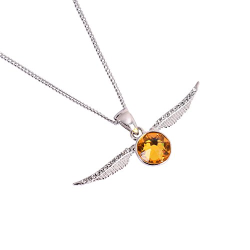 Swarovski snitch en boîte - collier en argent sterling Harry Potter en cristal