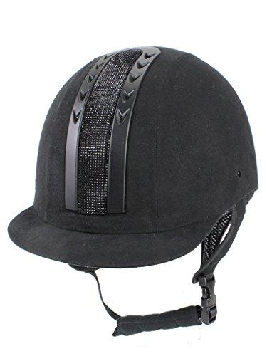 Visone Cavallo da donna MH Safe esclusivo VG1equitazione casco, donna, Casco per fantino, MH Safe Exclusive VG1, nero, L