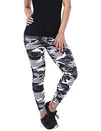 Pantalones Yoga Mujeres, ❤️Xinantime Leggings de camuflaje para mujer de moda Pantalones estampados y ajustados