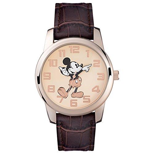Mickey Mouse Reloj Analógico de Cuarzo Unisex con Correa de Pu - MK14