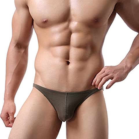 TEERFU 3-Pack, 5-Pack, 10-Pack Mens Underwear Briefs Sexy Soft Low Rise Bikinis Solid Stretch Cotton