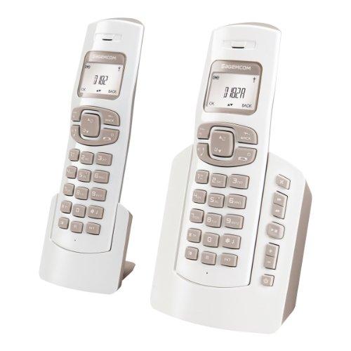 Sagemcom D182 Duo - Teléfono fijo con 2 terminales (importado)