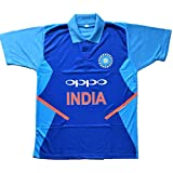 HeadTurners 2019 Indian Cricket Team Jersey T-Shirt for Kids, Boys and Men- Blue