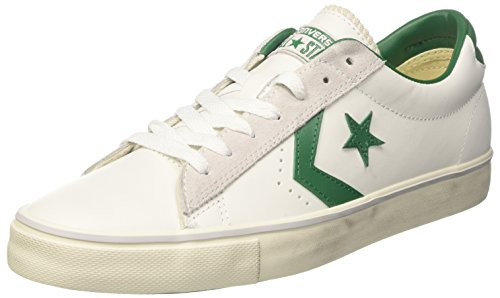 Converse PRO Leather Vulc Ox, Sneaker a Collo Basso Uomo, Bianco (White/Pool Table/Turtledove), 42 EU