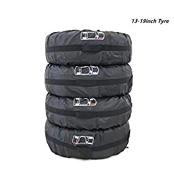 210D Oxford Spare Wheel Storage Tote Bags, Spare Tire Rim Covers Rain Resistant Tyres Tote Large Size Bag Wheel Protection Cover With Sturdy Handle Fit for 13