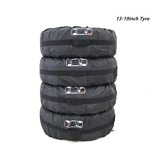 HOMPER Wasserdicht Reifen Taschen Dehnbare Reifentaschen Autorädertaschen Passend für Winter Sommer Reifen Reifentypen Weniger Als 66cm Durchmesser