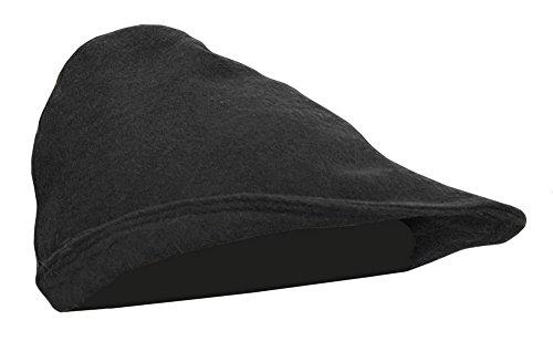 Mittelalter Hut aus Wolle Robin Hood 100% Wolle Hut Haube Ritter LARP Kleidung Wikinger verschiedene Farben (Schwarz)