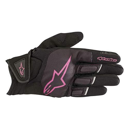 Alpinestars Stella Atom - Guantes para mujer (talla S), color negro y rosa