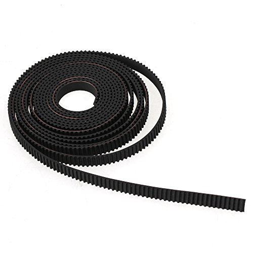 WEONE Black Rubber 2M RepRap GT2 Rubber Timing Belt 6mm Wide 2mm Pitch 2GT for 3D Printer RepRap Rostock Prusa Mendel