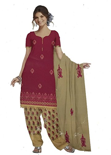 D Chiku Rumisha Salwar Kameez and Dupatta Indian Dress Material in Bench...