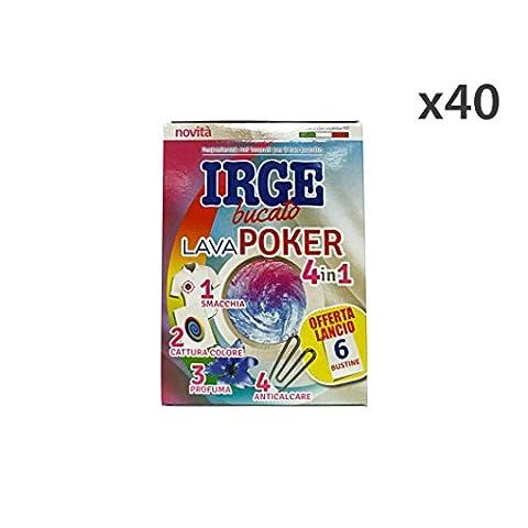 Set 40 IRGE Acchiappacolore poker 4in1 * 6 buste - Détachant à lessive