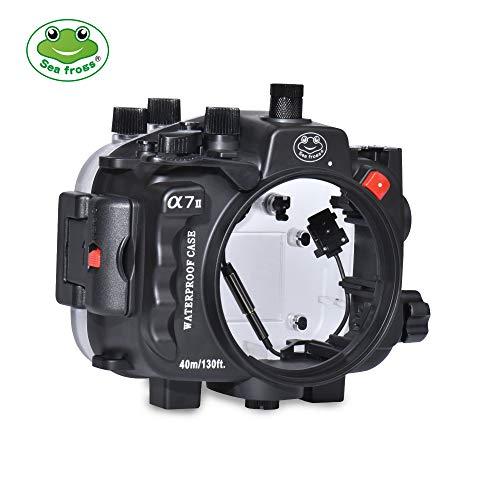 Carcasa para cámara submarina Sony A7II/A7R II/A7S II de Nueva generación, Compatible con Tres Lentes, 40 m