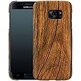 Handyhülle mit Nature-Design: Samsung Galaxy S7 Hülle / aus recyceltem PET / robuste Schutzhülle / Stylisches & umweltfreundliches Hard Case - S7 Hüllen: Wood von caseable Designs