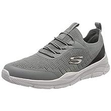 Skechers EQUALIZER 4.0, Men's Low-Top Trainers, Grey (Gray Mesh/Synthetic/Black Trim Gybk), 9 UK (43 EU)