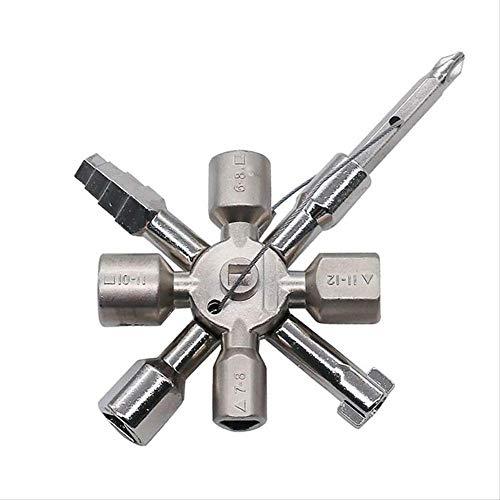 WSDCLY Multi-Modell 10 In 1 Universal Kreuzschlüssel Klempner Schlüssel Dreieck Für Gaszähler Schränke Entlüften Heizkörper (Schwarze 10-zoll-kunststoff-platten)