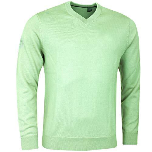Callaway Herren-gewellte VN Merino Pullover - Jade Lime - M Golf Herren Pullover