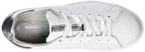 Marco Tozzi Premio Damen 23611 Sneakers Weiß (WHITE/SILVER 191)