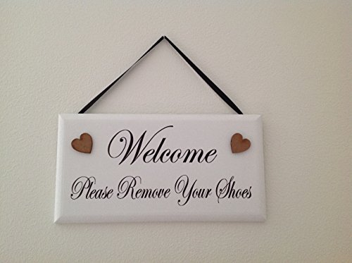 graphic about Please Remove Your Shoes Sign Printable Free identified as You should Take out Your Sneakers indicator picket plaque - Purchase On the web within just