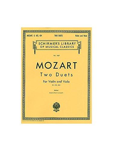 W.A. Mozart: Two Duets For Violin And Viola K.423/424. Partitions pour Violon, Viola