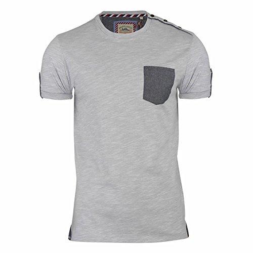 Brave Soul Herren T-Shirt Ecru Marl