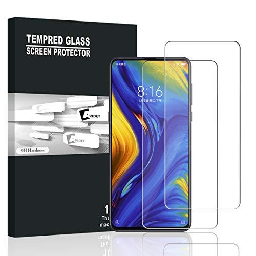Xiaomi Mi Mix 3 Panzerglas, AVIDET Displayschutz für Xiaomi Mi Mix 3, 9H Härte Super Langlebig, Anti-Öl,Panzerglasfolie Displayschutzfolie für Xiaomi Mi Mix 3 (2 Stück)