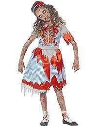 Zombie Country Girl Kostüm für Kinder - Gruseliges Halloween Kostüm für Mädchen