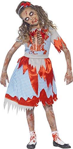 Zombie Country Girl Kostüm für Kinder S (4-6 Jahre) - Gruseliges Halloween Kostüm für Mädchen (Girls Halloween Kostüme Zombie)