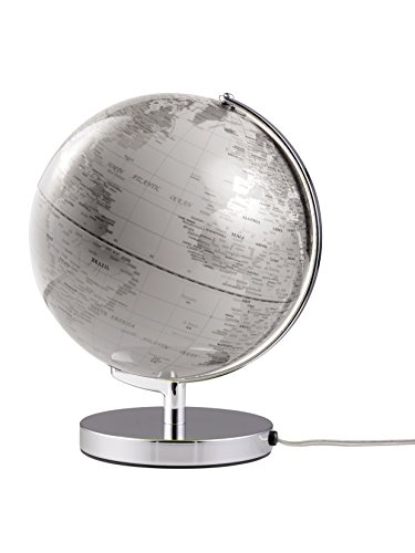 emform Tischglobus Terra White Light, Metall & Kunststoff, 250 x 320 mm, beleuchtet