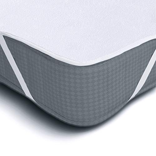 Protector de Colchón Impermeable Melunda | 90 x 200 cm | Capa superior de algodón...