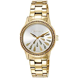 Esprit Damen-Armbanduhr ES-AVERY GOLD Analog Quarz Edelstahl ES107312007