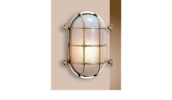 Plafoniera Ottone Esterno : Art.2035.ls lampada plafoniera ovale in stile marinaro ottone