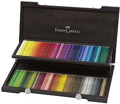 Idea Regalo - Faber Castell Valigetta Legno 120 Matite Polycro, multicolor