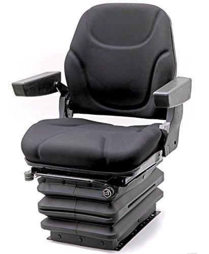 Preisvergleich Produktbild Traktorsitz Luftsitz Schleppersitz Baumaschinensitz Fahrer-Sitz luftgefedert mit Armlehnen Kompressor 12V